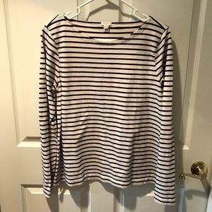 J.Crew Boat Neck Nautical Striped Sweater